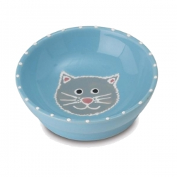 Gamelle pour chat My Love bleue