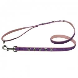Laisse pour chien Peace and Love violet