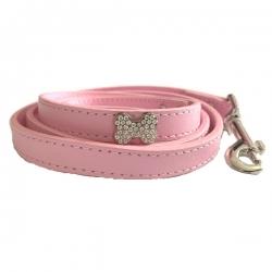 Laisse pour chien bling bling rose bonbon