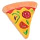 Peluche pour chien pizza