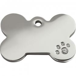 Médaille pour chien à graver Swarovski