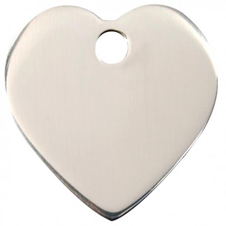 Médaille pour chien à graver coeur