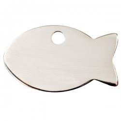 Médaille pour chat à graver poisson