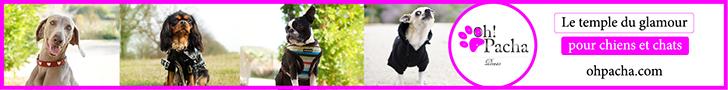 Boutique en ligne d'accessoires glamour Oh Pacha, pour chiens et chats