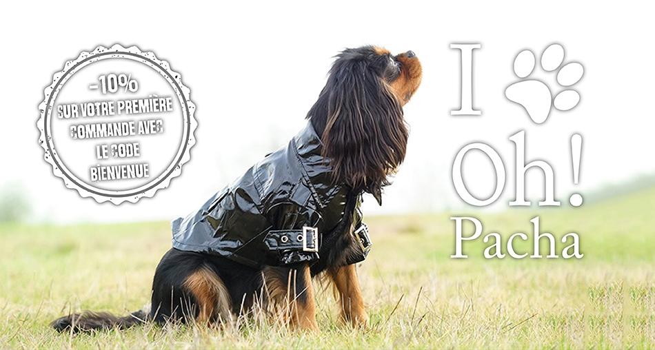 Ciré pour chien noir - Oh ! Pacha